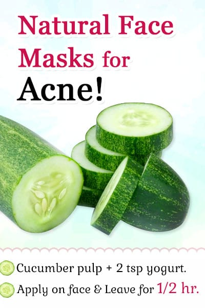 Cucumber in Natural Face Masks for Acne