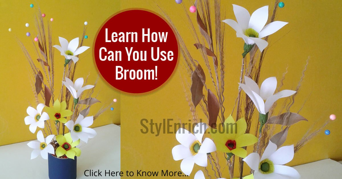 Best out of waste craft ideas how to make a bunch of flowers for Best out of waste house