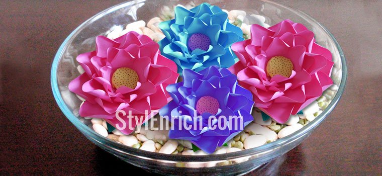 Easy Paper Lotus Flower for Home Dcoration