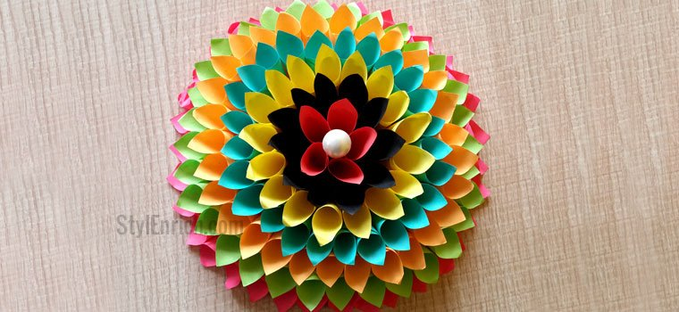 89 paper craft ideas for wall decoration step by step for Decorative flowers for crafts