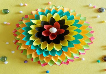 Wall Decoration Ideas : How to Make Paper Floral Craft for Your Walls !