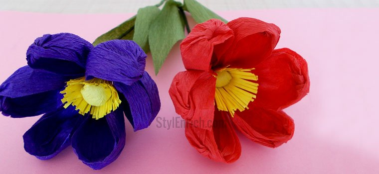 Handmade Colorful Easy Paper Flowers