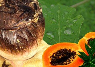 Homemade Hair Mask with Papaya