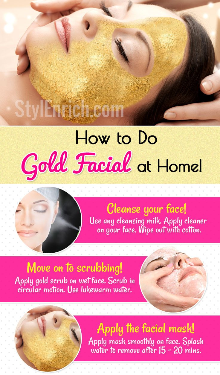 How to do gold facial at home