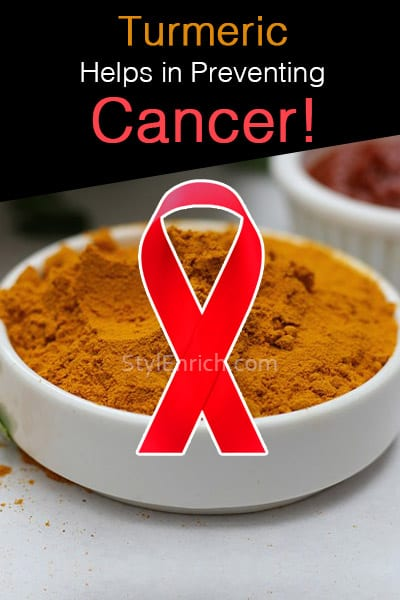Turmeric Helps Preventing Cancer