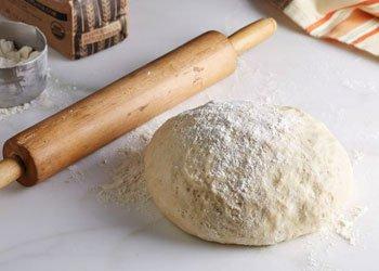 Pizza Dough With Flour Coat