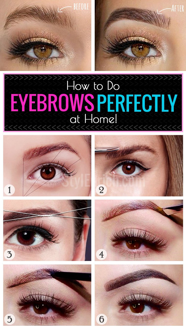 Eyebrow Makeup : How to Do Eyebrows Perfectly at Home?