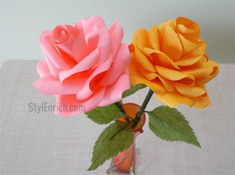 How to make Paper Roses Step by Step!