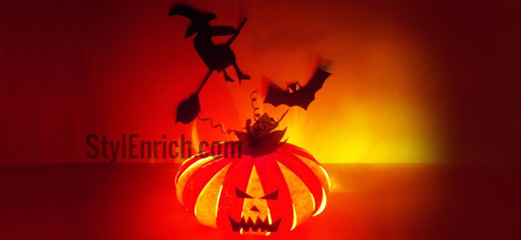 Halloween craft ideas : Pumpkin DIY Paper Craft for Halloween