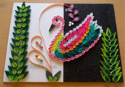 How to Make a DIY Wall Decor Using Bird Quilling Pattern?