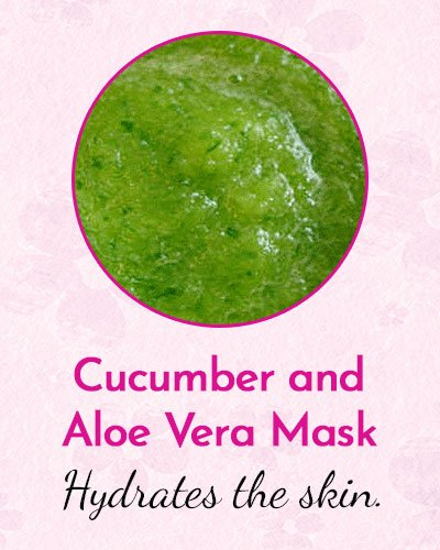 Cucumber and Aloe Vera Mask for Dry Skin