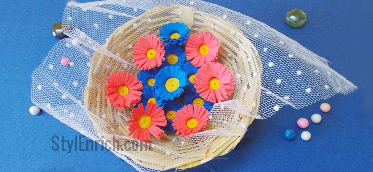 Colourful Easy DIY Quilling Flowers