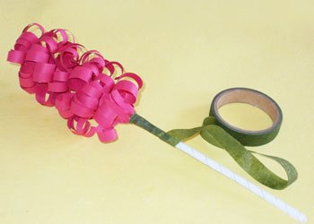 Hyacinth paper flower decoration