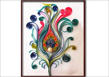 Quilling Art: How to Make a Vibrant Peacock Feather Using Paper Quilling