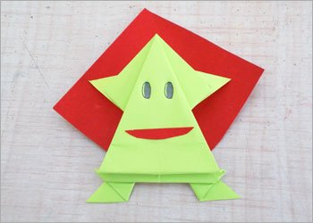 Diy paper jumping frog craft