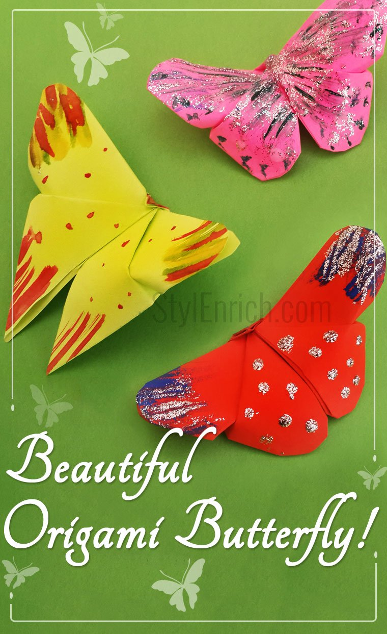 how to make an easy origami butterfly stylenrichdiy