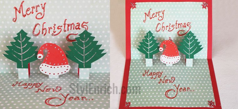 Christmas Greeting Card Ideas.Christmas Card Ideas Easy Handmade Card For Christmas