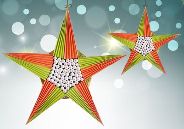 Christmas Decoration Ideas : Make This Cute Paper Star in Just 5 Minutes!