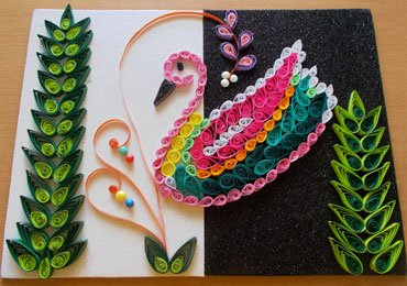 Multicoloured Duck Using Quilling Art