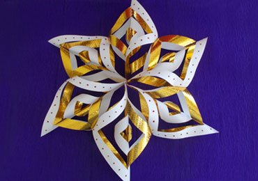 Snowflake- a Christmas Paper Crafts for Kids