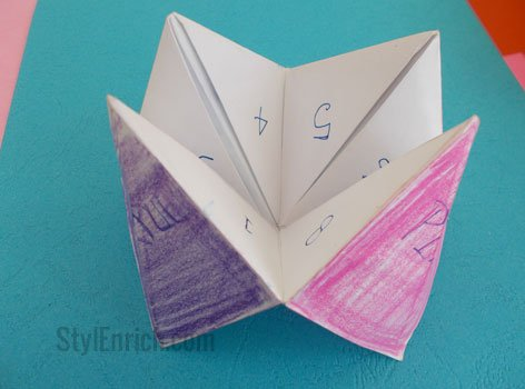 How to Make an Origami Fortune Teller For Kids!