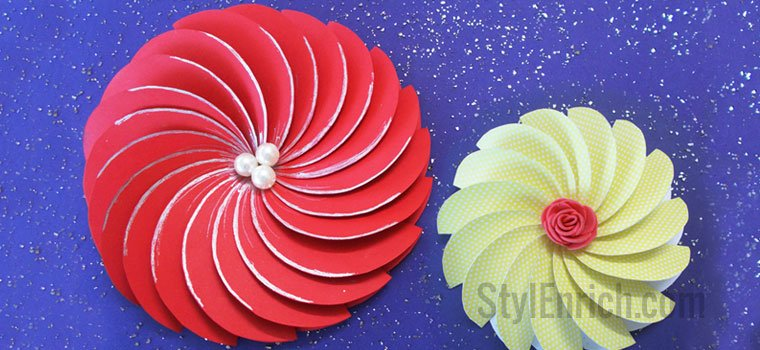 DIY Easy Paper Crafts: Spiral Flowers