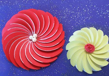 Paper Crafts : Awesome Spiral Paper Flowers For DIY Room Decor