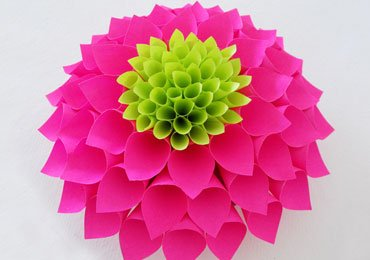 DIY Paper Flowers : How to Make Beautiful Paper Dahlia Flower?