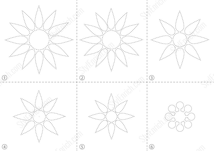 FREE Download : Stencil Template for DIY Flower Craft