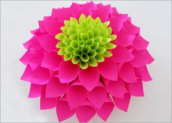 Diy paper flowers how to make paper dahlia flower diy paper flower art craft project mightylinksfo