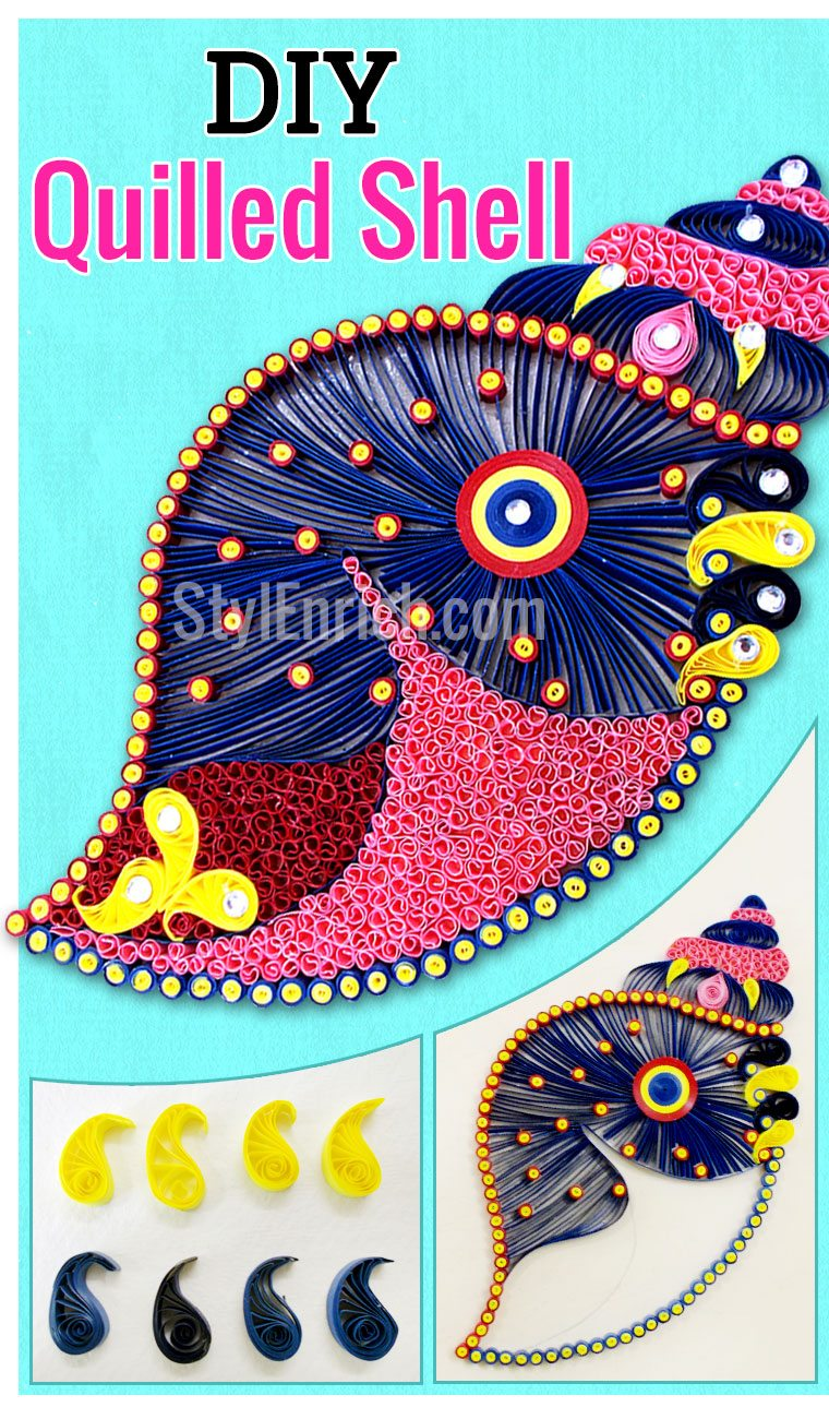 DIY quilled shell for home decor