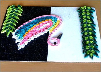 Duck-quilling-craft-for-home-decor
