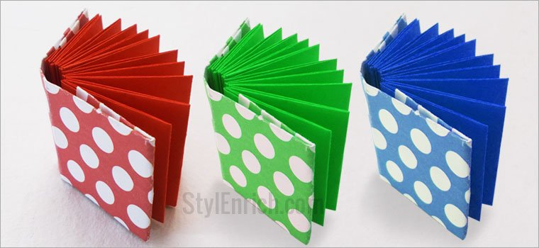 DIY Craft Ideas for Kids : Easy DIY Origami Mini Modular Notebook