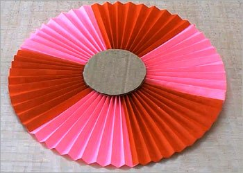 Paper rosettes folded craft