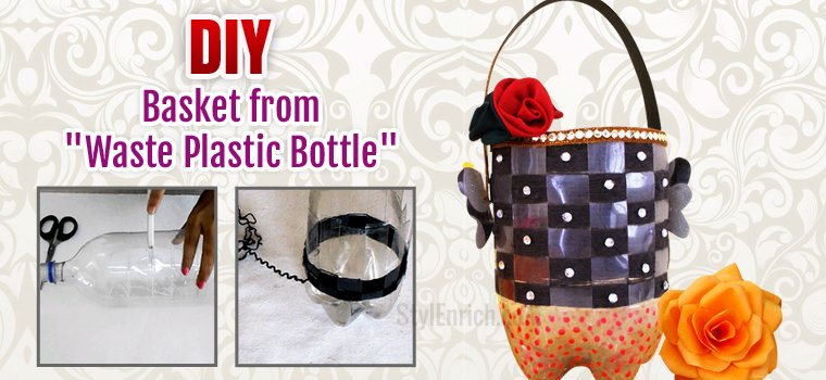 Plastic Bottle Basket DIY Recycled Crafts