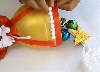 Christmas bell diy recycled craft