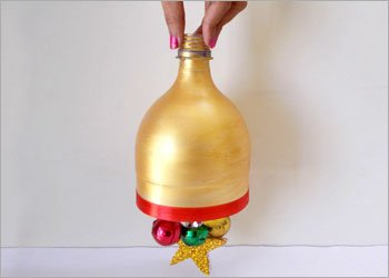 Christmas bell plastic bottle art & craft