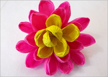 Crepe paper flower bouquet for love