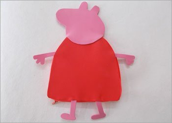 Peppa pig recycled craft