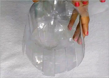 Plastic bottle recycled crafts decor