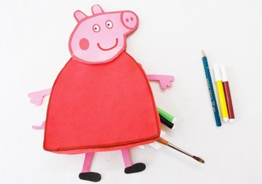 DIY Peppa Pig Crafts : How to Make Peppa Pig Pencil Pouch!
