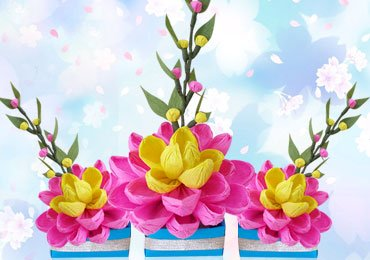 DIY paper flowers home decor