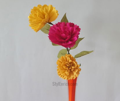 Easy DIY Crepe Paper Flowers