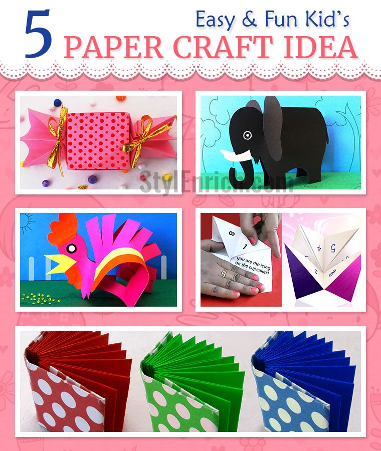 Fun crafts to do with paper for kids