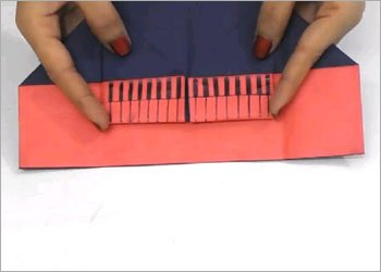 Origami piano kids craft