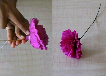 Paper flower diy craft
