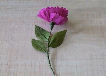 Pink paper flower diy craft