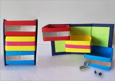 DIY Organizer : How To Make Origami Organizer Paper Project!