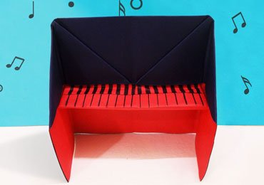 Amazing Origami Piano : An Easy Origami for Kids!
