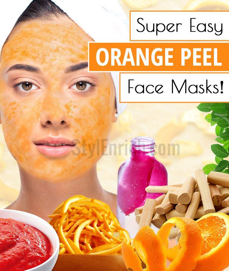 Orange Peel face masks recipes